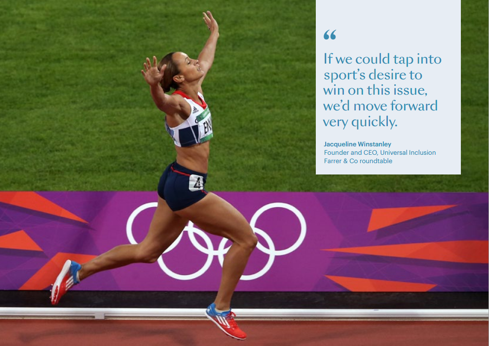 Jessica Ennis-Hill crosses the line during the Women's Heptathlon 800m, winning gold for Team GB, London 2012 Olympics.