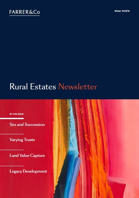 Rural Estates Newsletter Winter 2018/19
