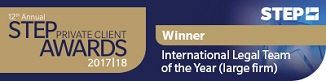 STEP Award International Legal Team of the Year