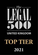 Legal 500 2021 Top Tier